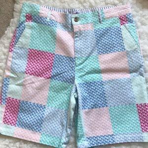 Boys patchwork whale vineyard vines shorts